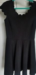 Nasty Gal Scalloped Fit and Flare dress